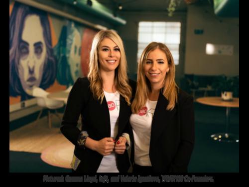 Pictured: Gemma Lloyd, left, and Valeria Ignatieva, WORK180 Co-Founders.