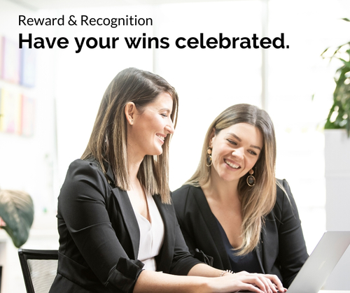 Entree Recruitment Careers: Reward and Recognition - Have your wins celebrated.