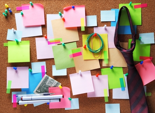 Post it notes can help you stay focused