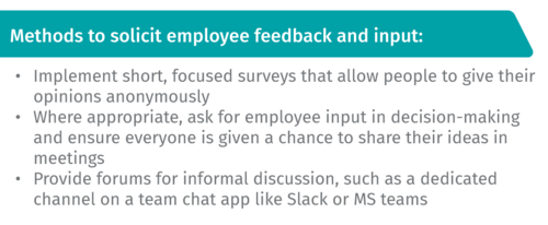 Methods to solicit employee feedback