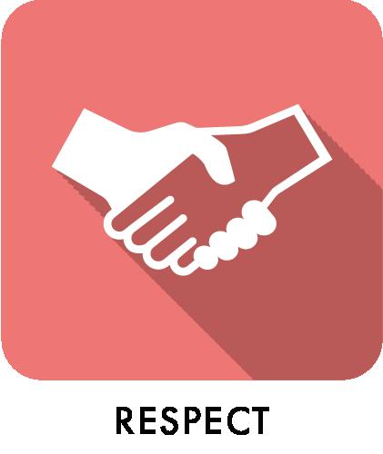 respect, shake hands