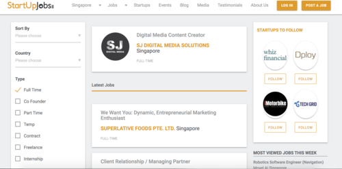 start-up-job-search-website-singapore