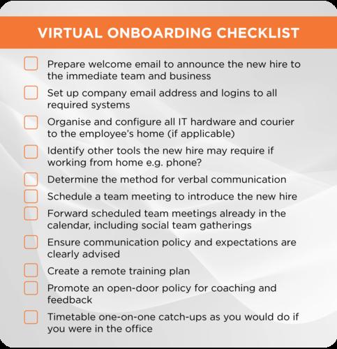Virtual Onboarding Checklist