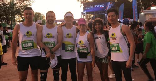 group of runners at angkor wat half marathon