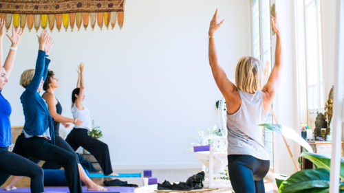 Yoga and meditation with Chelsea Pottenger, Director of EQ Consulting Co.