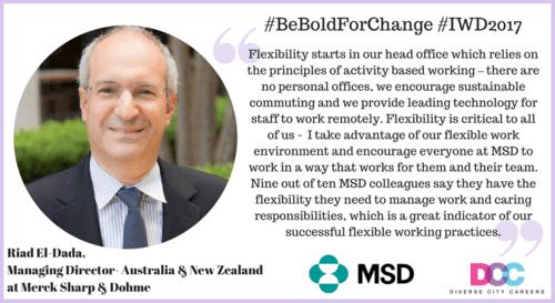 MSD IWD pledge