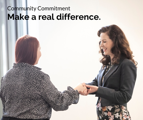 Entree Recruitment Careers: Community Commitment - Make a real difference