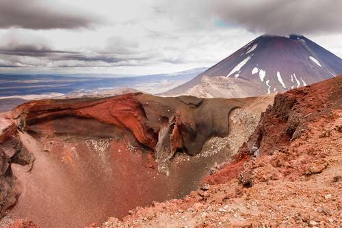 Volcanic terrain, ridge and mountain in New Zealand