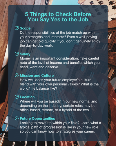 5 Things to Check Before You Say Yes to the Job