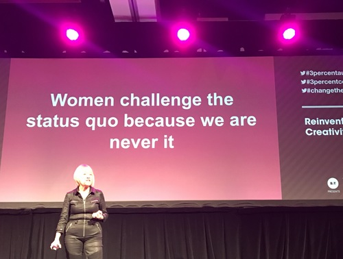 Women challenge the status quo because we are never it. Gender Equality in the Creative Industry