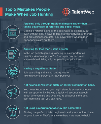 Top 5 Mistakes People Make When Job Hunting