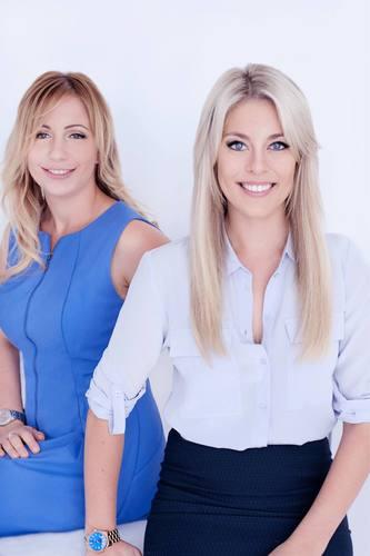 Valeria Ignatieva, on the left. Gemma Lloyd on the right. DCC Jobs cofounders