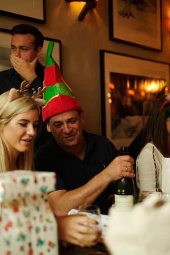 man wearing elf hat