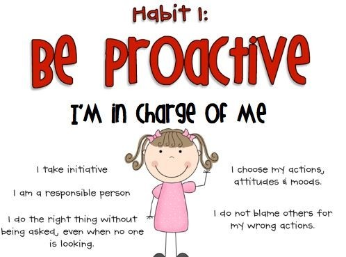 Be proactive - I'm In Charge of Me