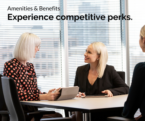 Entree Recruitment Careers: Amenities and Benefits - Experience competitive perks.