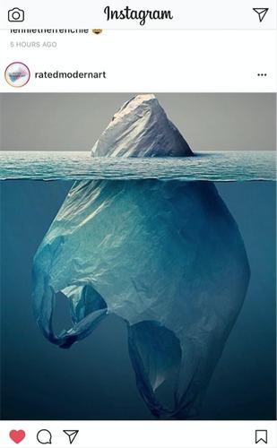 plastic iceberg instagram