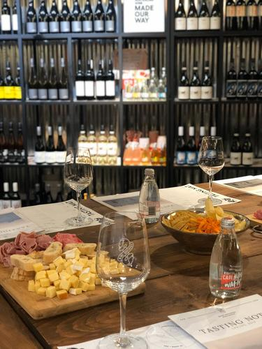 wine and tapas in wine bar