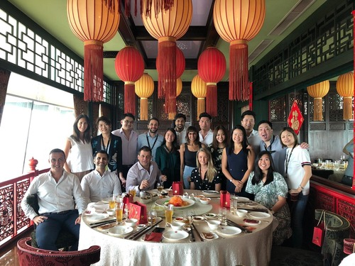 team lunch to celebrate chinese new year