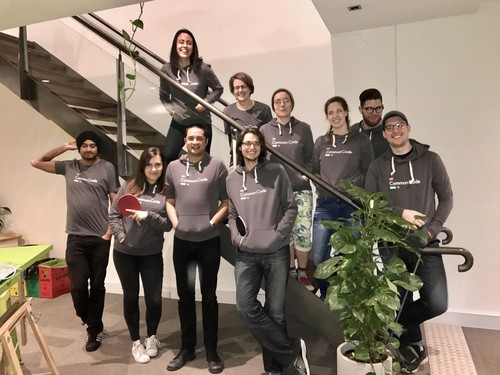 Some of the team in our new common code gear.