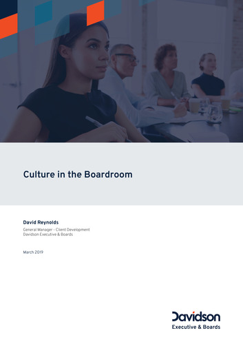 Culture in the Boardroom cover page