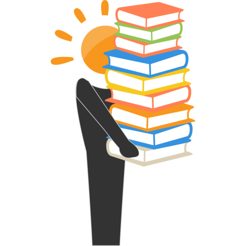 Resources - person carrying books icon